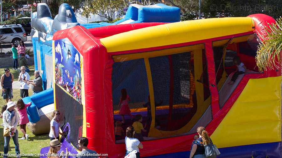 Bounce Houses at the Festival of Whales Carnival